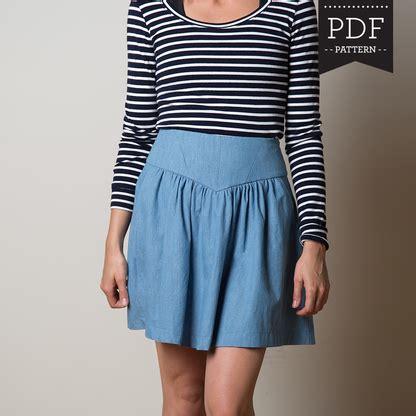 skirt pattern pdf crescent skirt sewing pattern gathered skirt with yoke