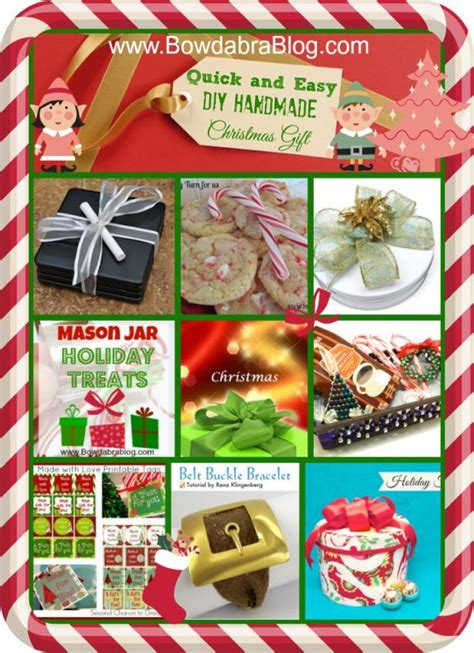 quick easy homemade christmas gifts bowdabra feature friday and easy diy handmade gifts bowdabra