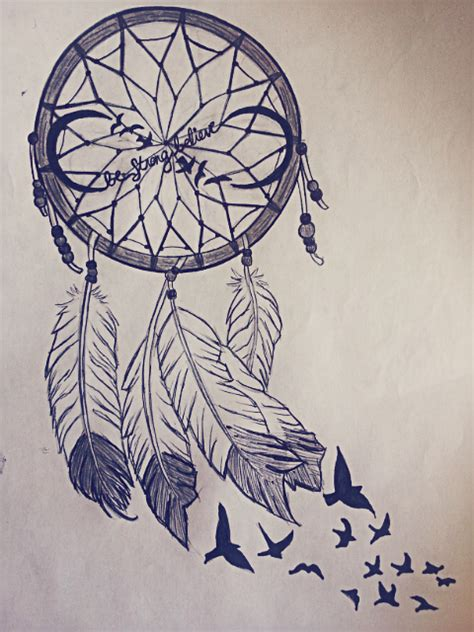 dreamcatcher infinity tattoo tumblr drawing dreamcatcher fashionplaceface com
