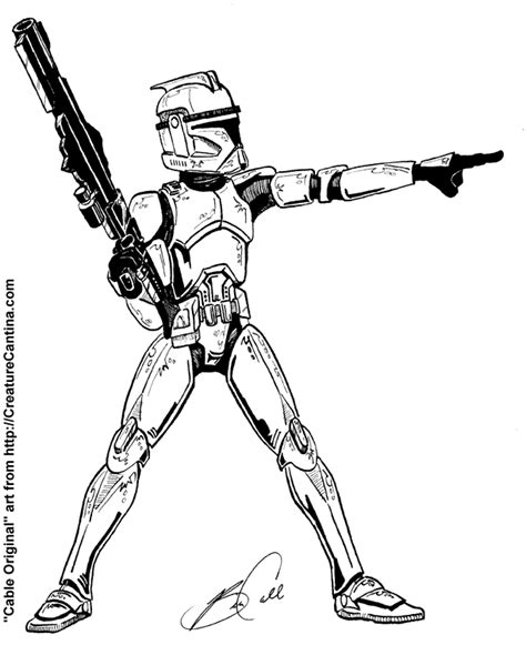 501st Clone Trooper Coloring Pages Coloring Pages Clone Trooper Coloring Page