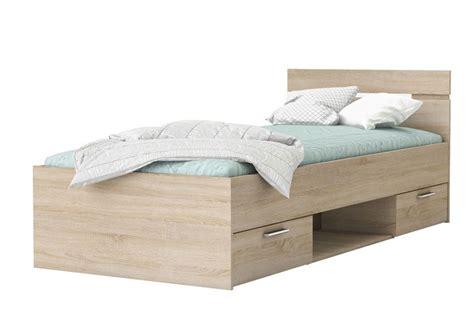 cama de 90 con cajones cama de 2 cajones 1 hueco de 90x200 en color roble al