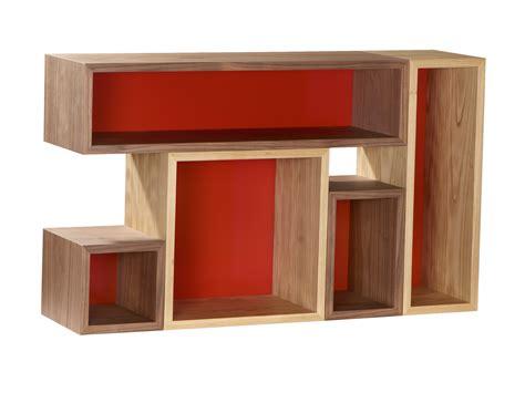 Open Wood Bookcase Open Wood Veneer Bookcase Otto By Azea Design Victor Caetano
