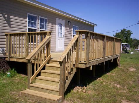 building a mobile covered wood deck on mobile home studio design