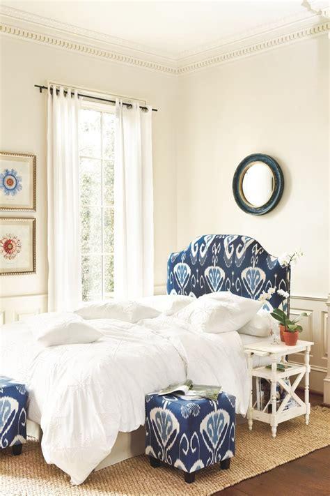 Bedroom Knots Camden Upholstered Headboard In Toscana Ikat Blue
