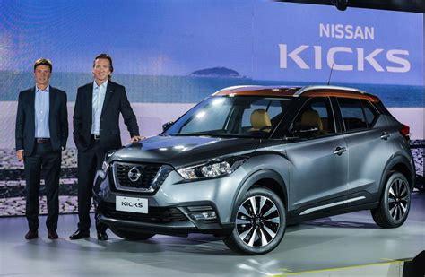 nissan kicks 2017 blue el nissan kicks puso primera en brasil mega autos
