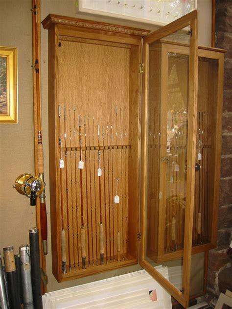 fishing rod display cabinet cabinet display
