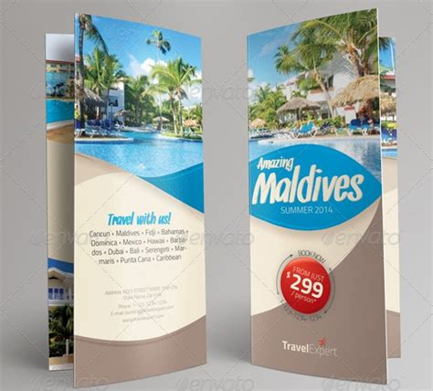 travel brochure design templates creative travel brochure trifold ideal for travel agencies