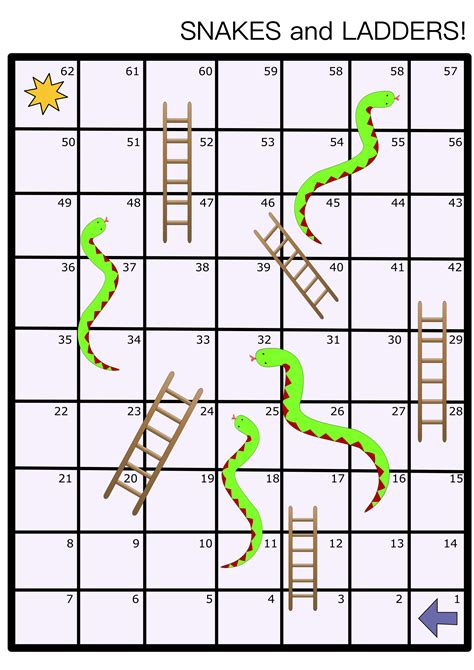 snakes and ladders printable template clipart snakes and ladders board