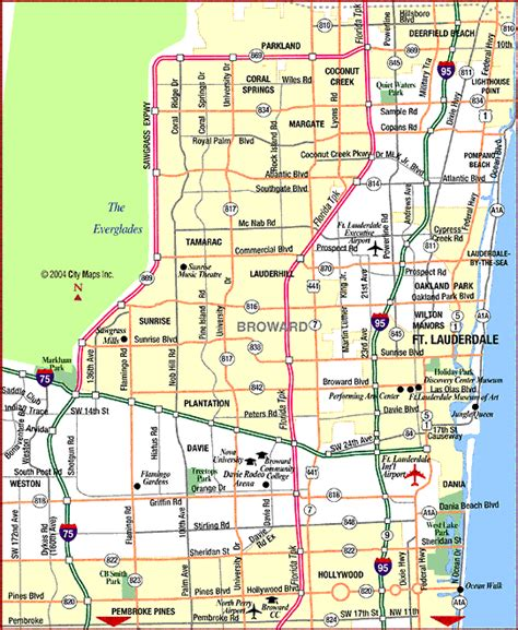fort lauderdale map maps update 760328 fort lauderdale tourist map international boat show illustrated maps 51