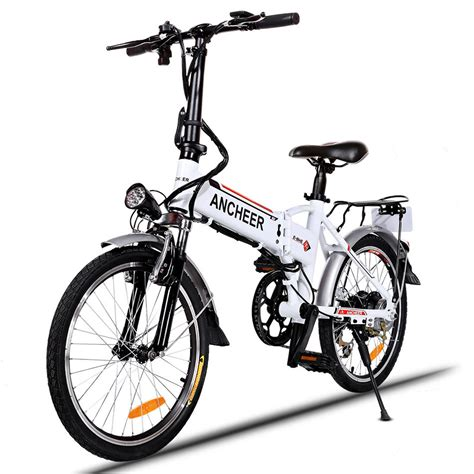 high performance electric bicycle ancheer 18 7 inch aluminum alloy folding bike electric