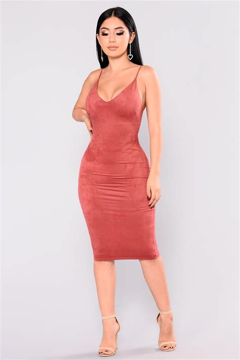 Iman Dress iman suede dress terracotta