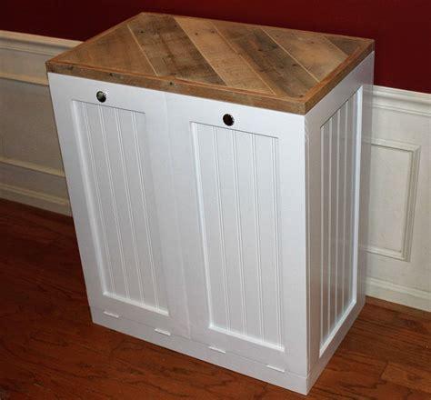 trash recycling bin cabinet wood rustic tilt out trash bin and recycle bin cabinet
