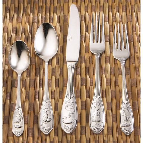 spode woodland birds 45 flatware spode 174 45 pc 18 10 woodland flatware set 141815