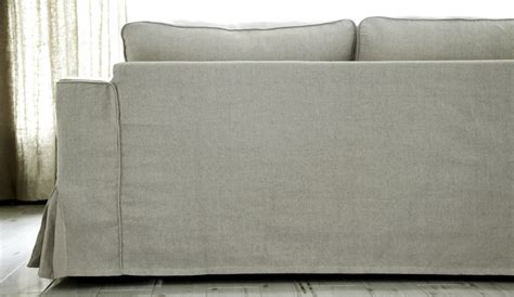 designer slipcovers for sofas loose fit linen manstad sofa slipcovers now available