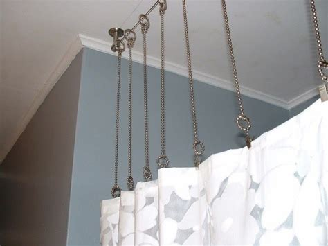 how to hang curtains from ceiling how to hang curtain rods from the ceiling quora