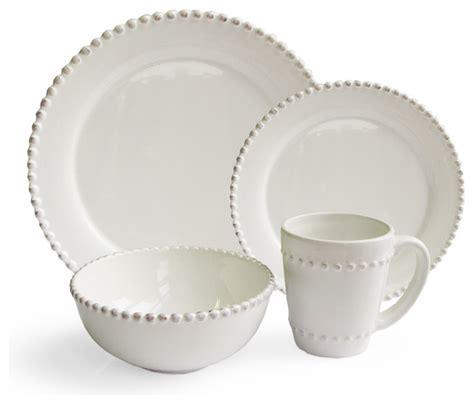 white beaded dinnerware set bead 16 dinnerware set traditional