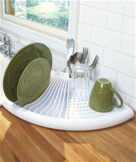 Space Saving Dish Rack by White Corner Dish Dryer Rack Space Saving Kitchen Drainer