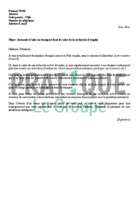 Exemple De Lettre De Motivation Transport Exemple De Demande D Emploi En Transit Employment Application