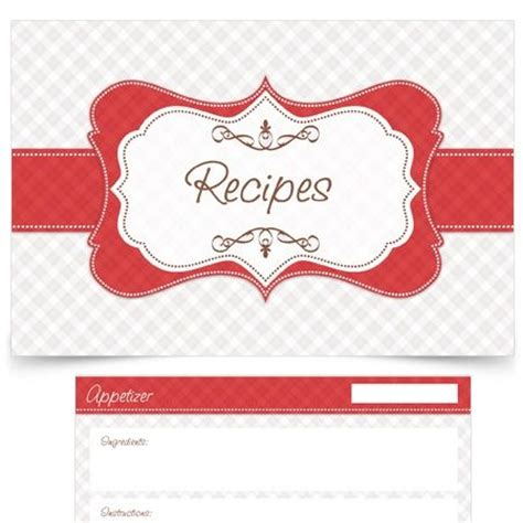 1000 Images About Cookbook Ideas On Pinterest Recipe Label Template