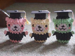 3d origami bear tutorial origami 3d pinterest 3d jewellia handicrafts new 3d origami graduation bears
