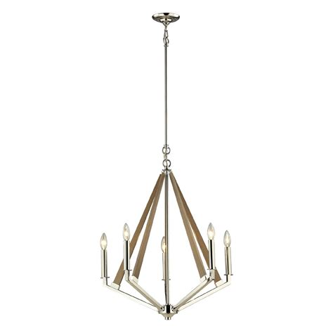 Polished Nickel Chandeliers Elk 31475 5 Madera Contemporary Polished Nickel Mini Chandelier Lighting Elk 31475 5