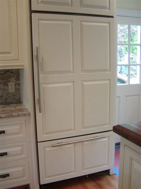 how to cover refrigerator with cabinet refrigerator wooden panel refrigerator door panels 336