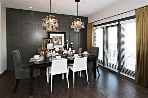 dark gray dining room dark gray wainscoting design ideas