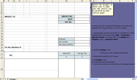 service billing invoice template service billing template tips in excel with invoice