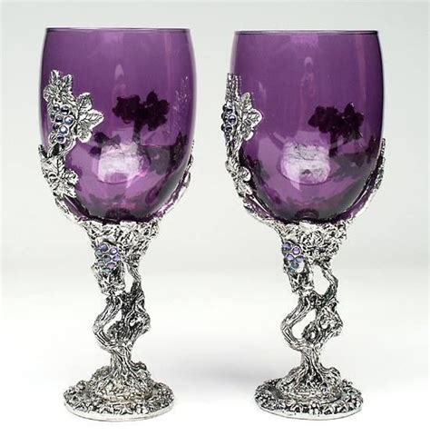 beautiful wine glasses beautiful wine glasses purple is awesome pinterest