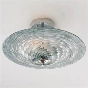 Glass Flush Mount Ceiling Light Tornado Glass Ceiling Light Flush Mount Ceiling Lighting By Shades Of Light