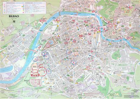 map of spain bilbao bilbao tourist map bilbao spain mappery
