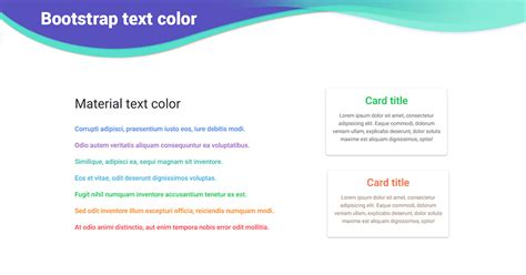 bootstrap footer exles tutorial basic advanced bootstrap text color exles tutorial basic