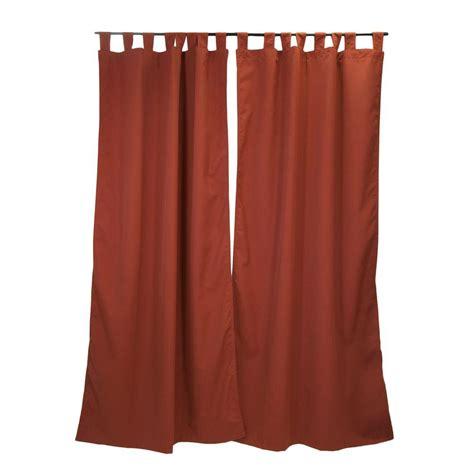 sunbrella curtain panels sunbrella 50 in x 96 in canvas henna outdoor tab top