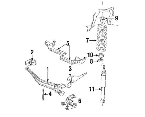 1996 ford ranger front suspension diagram 1996 ford ranger parts ford factory parts genuine ford