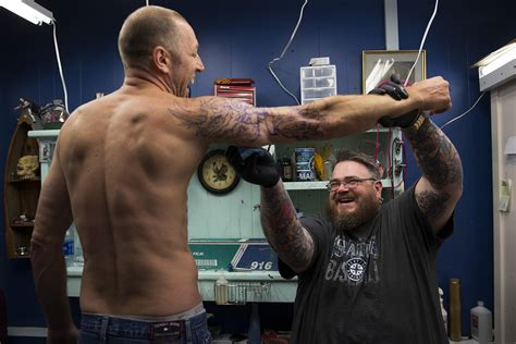 blue collar tattoo photos bremerton and one bare their tattoos