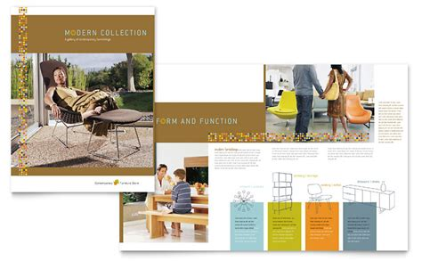 furniture design templates furniture store brochure template word publisher