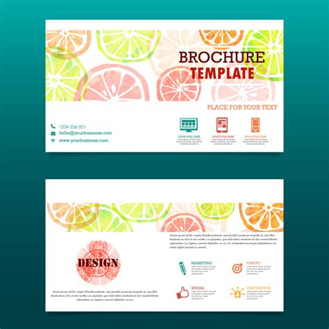 free adobe illustrator brochure templates orange fruit brochure template free vector in adobe