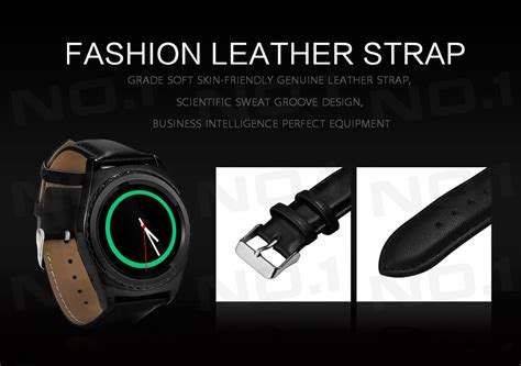 Smartwatch Dm98 Rate Sim Card Silver no 1 g4 mtk6261 rate smartwatch phone leather band