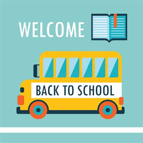 welcome back to school template welcome back to school background flat design template