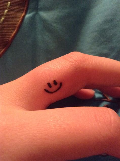 small smiley face tattoo my new smiley tattoos