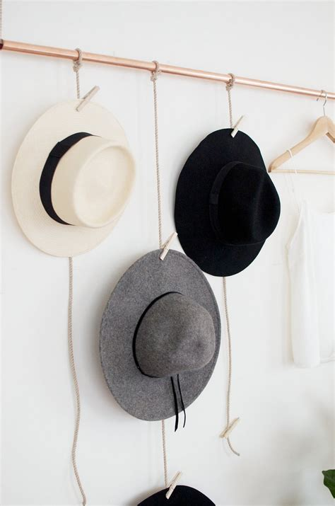 Hat Hanging Rack by Diy Hanging Copper Hat Rack A Pair A Spare