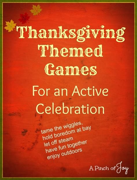Thanksgiving Themed Games | thanksgiving themed games