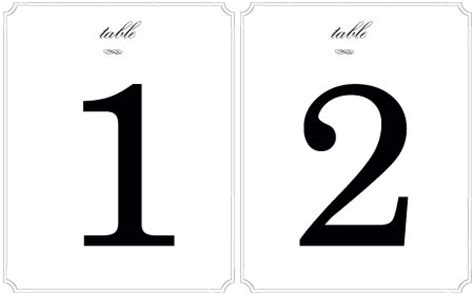 Table Numbers Stands You Can T Beat This Party Rentals Free Table Number Templates