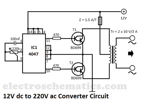 12v dc to 12v ac inverter circuit diagram inverter circuit page 3 power supply circuits next gr