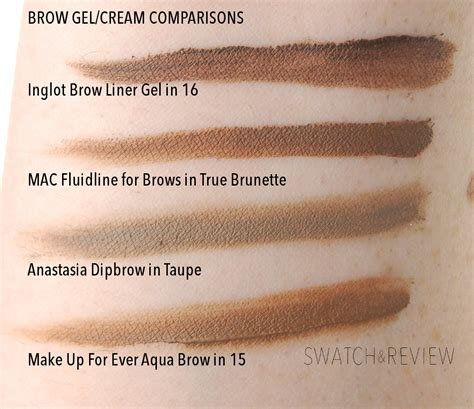Mac Brow Gel inglot brow liner gel in 16 review swatch and review