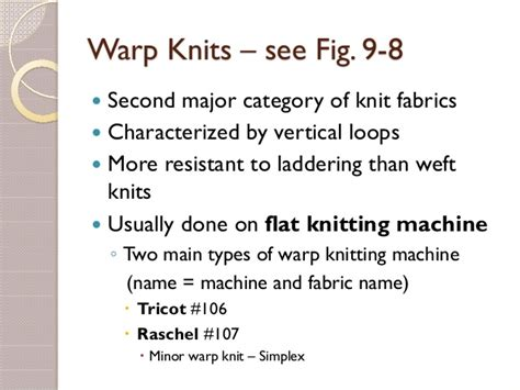warp knitted fabric properties knitted fabrics and their properties