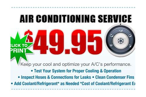 car air conditioning service coupons