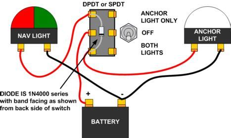 wiring running lights    position spdt cole hersee push pull switch page  iboats boating