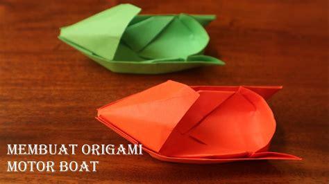 origami motorboat cara membuat origami speed boat motorboat youtube