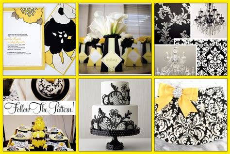 farriers daughter black white damask  yellow